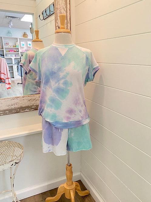 Lavender Tie Dye Top