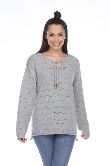 Tied Grey Pullover