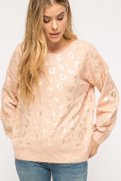 Blush Leopard Sweater
