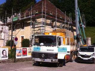 Commune de Saint Pierre d'Entremont Savoie, suite du chantier de rénovation et d'isolation d