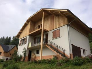 Commune de St Pierre d'Entremont (Isère), Test d'étanchéité à l'air en phase travaux sur