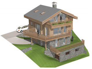 Calcul réglementaire RT 2012. Construction d'un chalet à Méribel les Allues, Etude thermique pré
