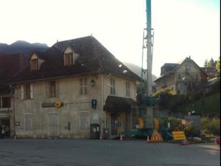 Commune de Saint Pierre d'Entremont (Savoie), Démarrage du chantier de rénovation de toiture de