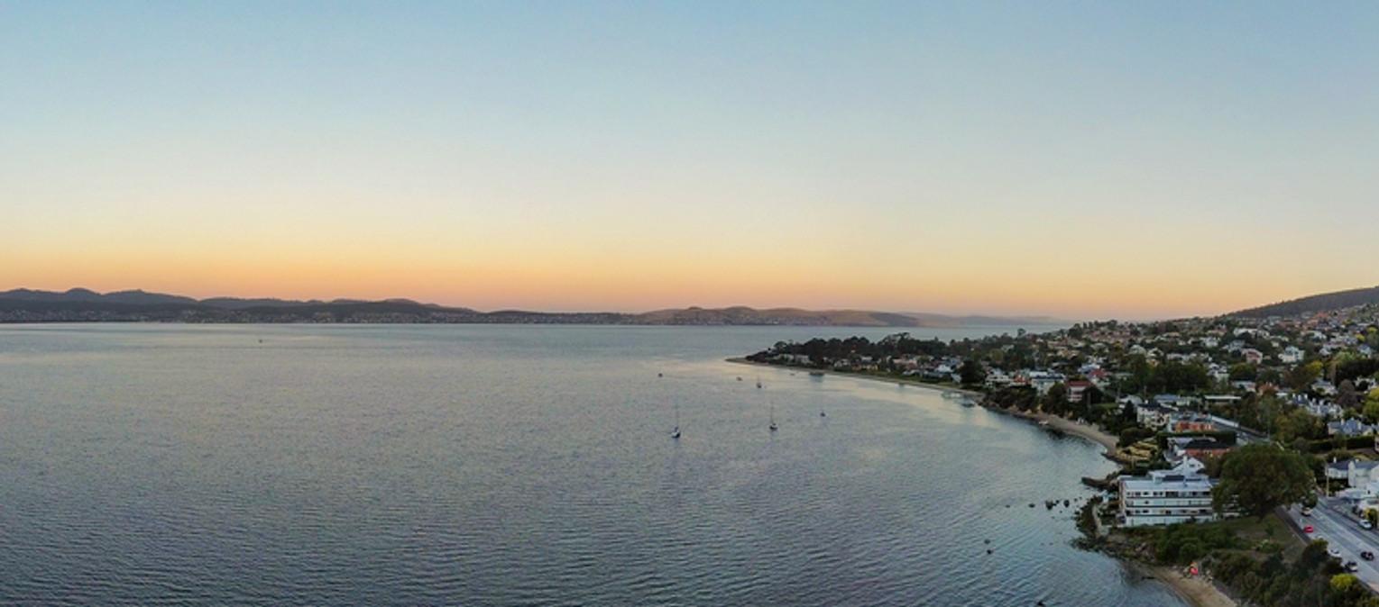 Sandy Bay at twilight in summer