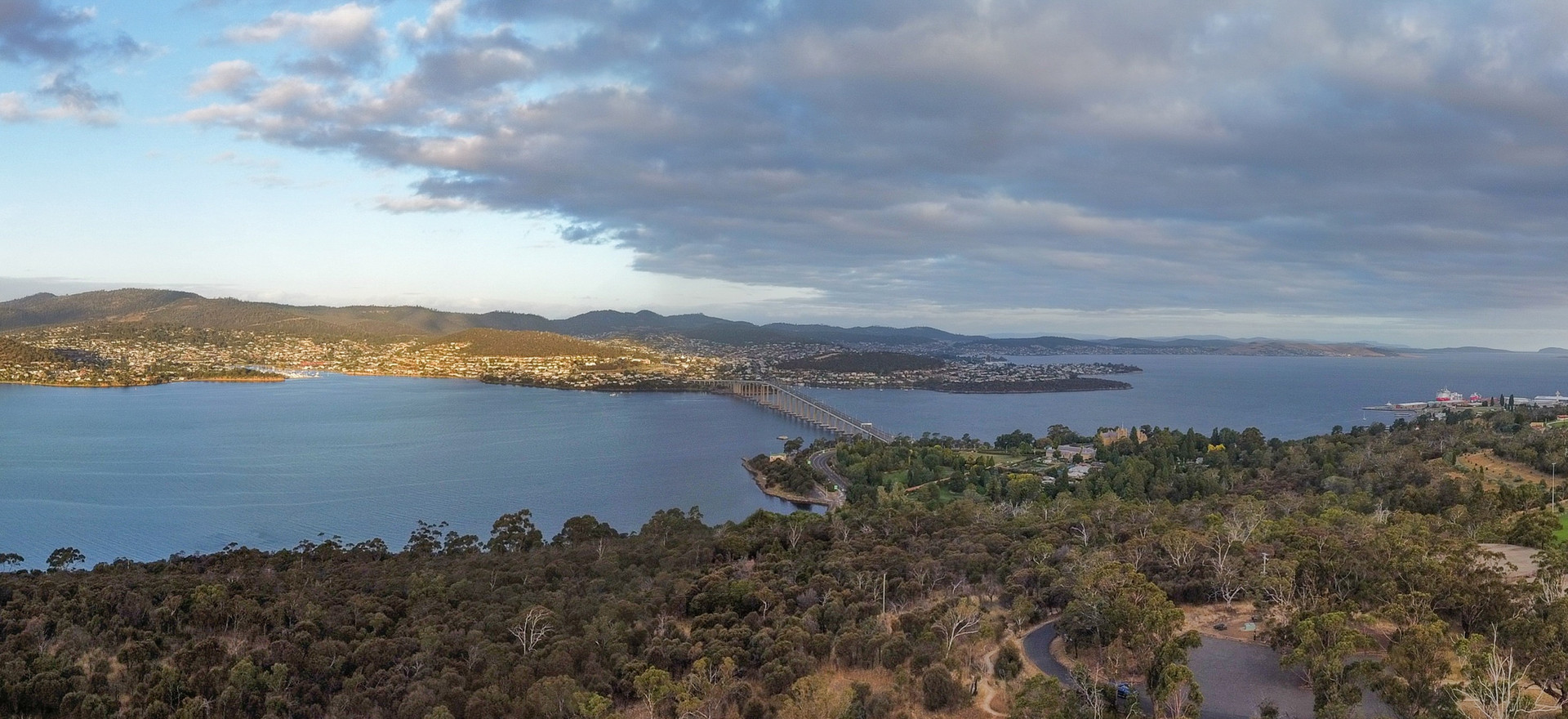 View over Derwent River from Queens Domain