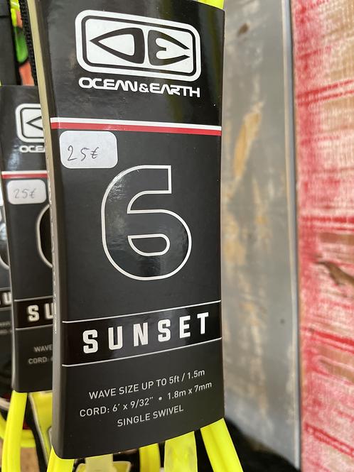 """LEASH """"O&E"""" SUNSET 6'  / 8'"""