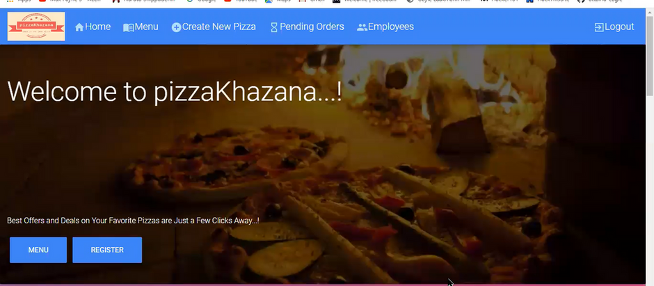 PIZZAKHAZANA - project by Nikhil and Vikram
