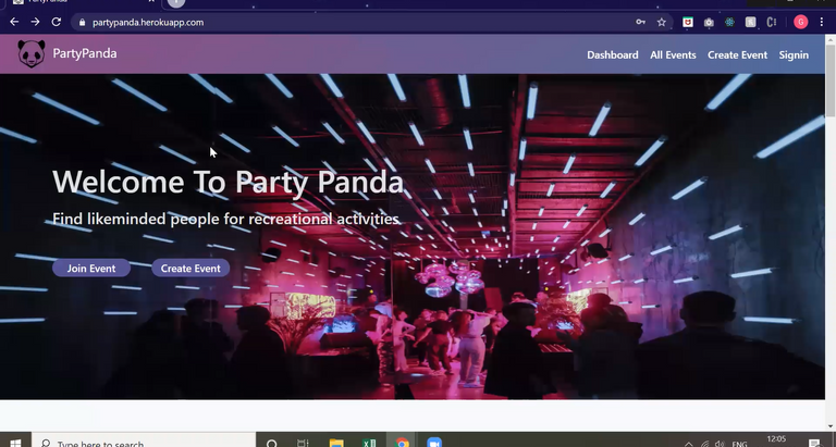 PARTYPANDA - project by Ganesh and Manoj