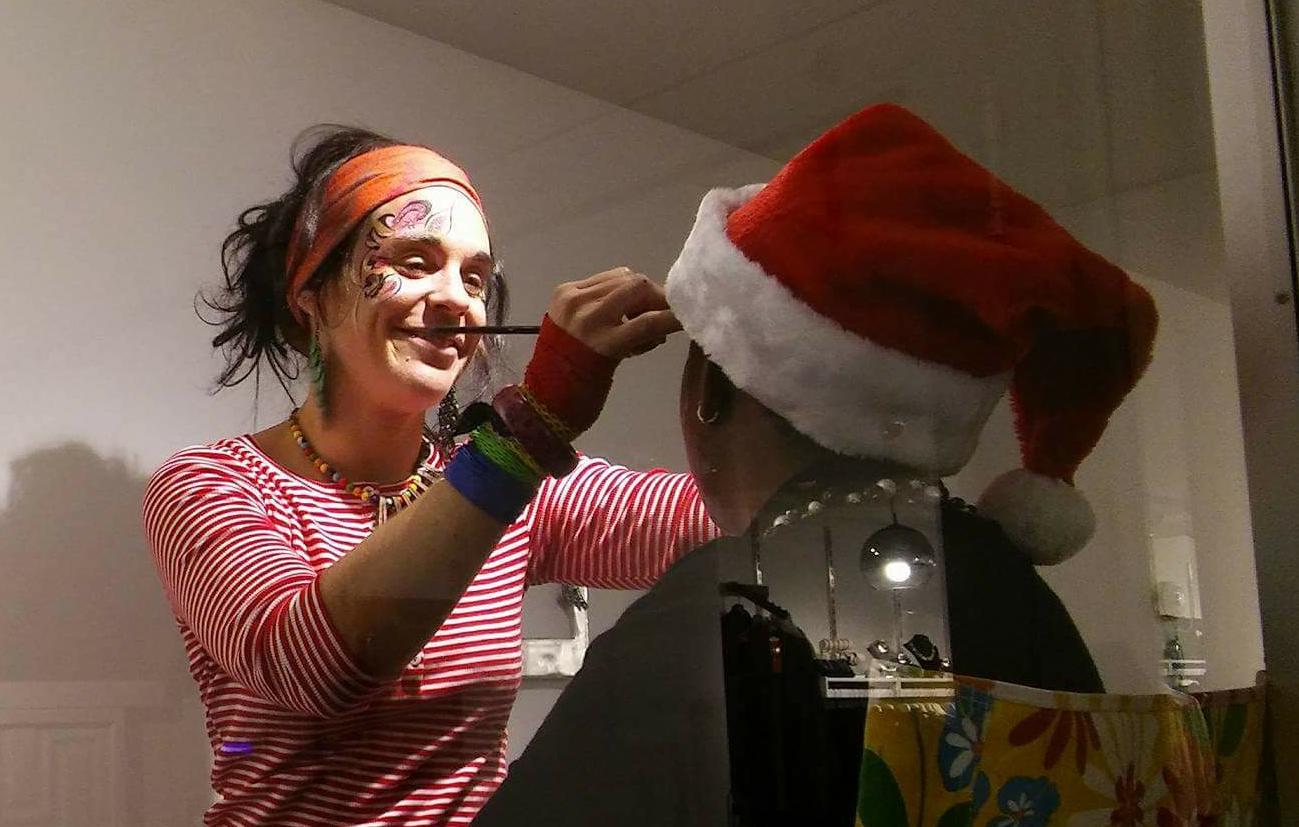 Maquillage Parade du Père Noel