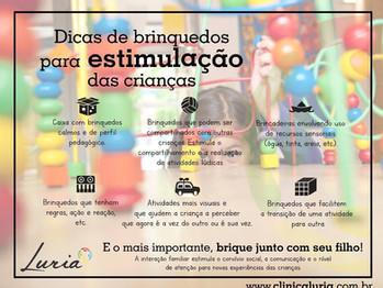 Dicas de brinquedos para estimulação das crianças | Clínica Luria