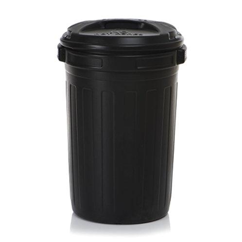 Black Plastic Dustbin