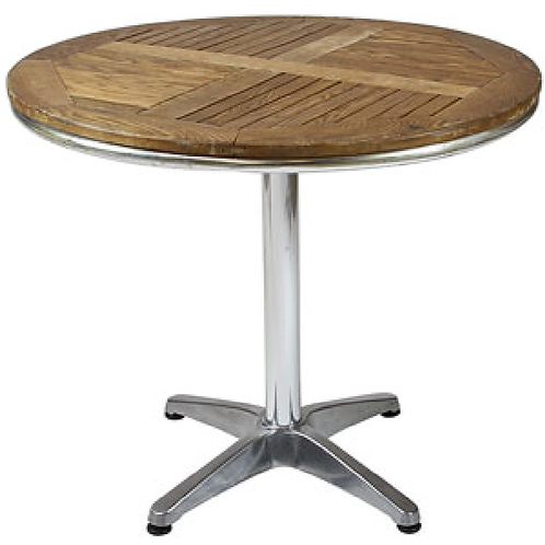 Round Teak & Aluminium Table