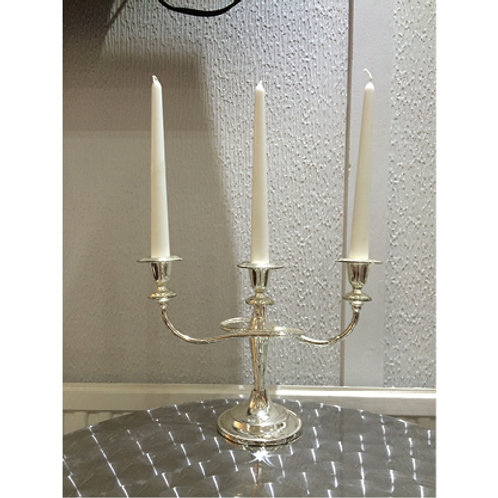 Silver Candelabra 3 Stem (with Sconces)