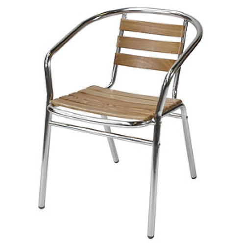 Teak & Aluminium Chair