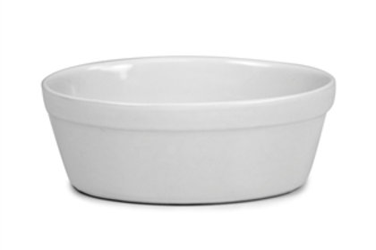 "Oval Pie Dish White 6"""