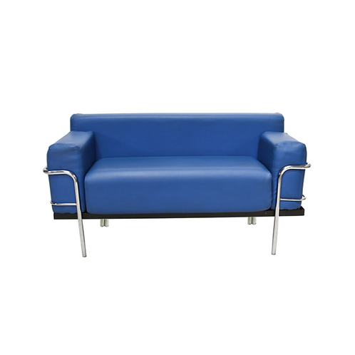 Corbousier Leather Sofa Blue