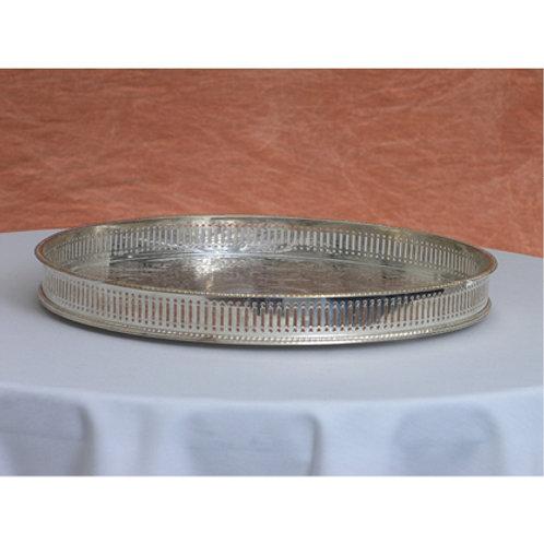 Mirrored Plate Round