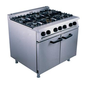6 Ring Propane Gas Burner Oven