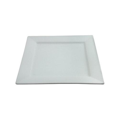 """Square White Plate 10"""""""