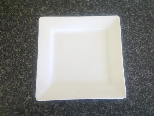 """Square White Plate 6"""""""