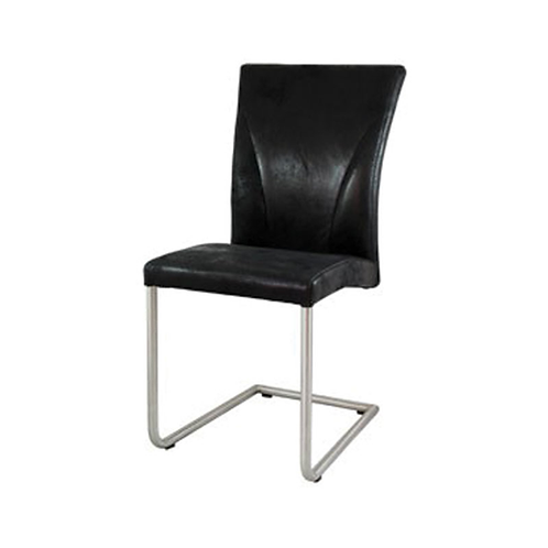 Cosmo Suede Cantilever Chair Black