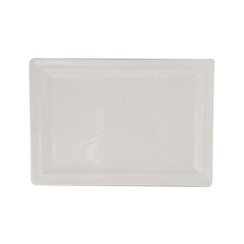 """Line-Z White Platter 13"""" x 9"""""""