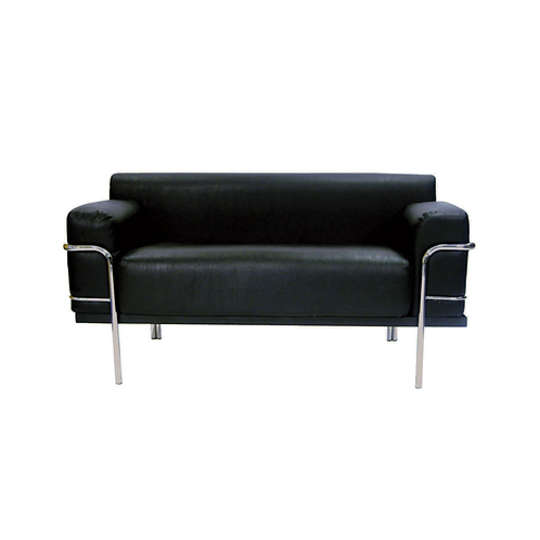 Corbousier Leather Sofa Black