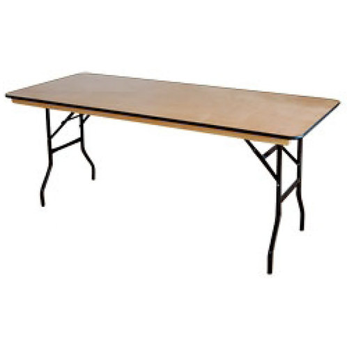 Wooden Top Table with PVC Edge