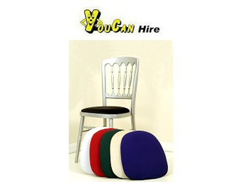 Silver Banqueting Chair with Black Pad