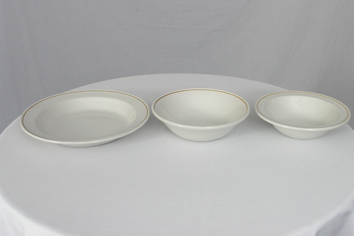 Gold Band Soup Dish (21.5cm)