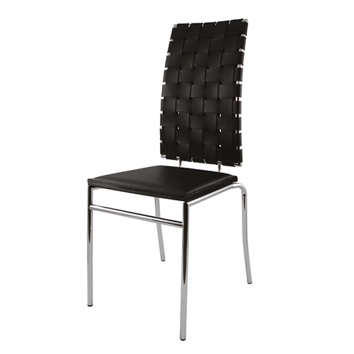 Webb Chair Black Leather