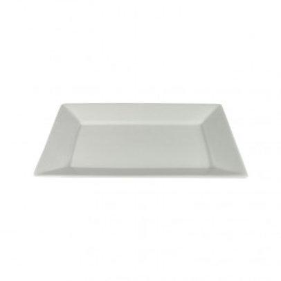 "Rectangular Plate White 10"""