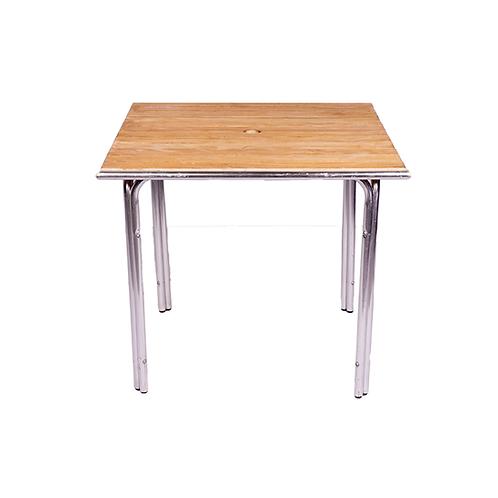 Square Teak & Aluminium Table