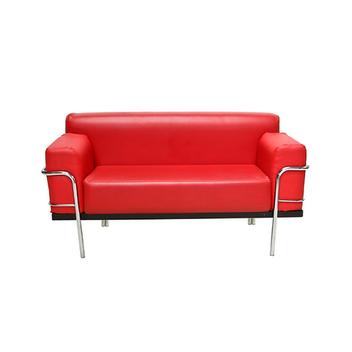 Corbousier Leather Sofa Red
