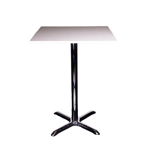 Pisa Poseur Square Table White