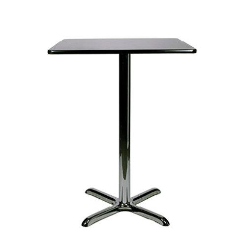 Pisa Poseur Square Table Black