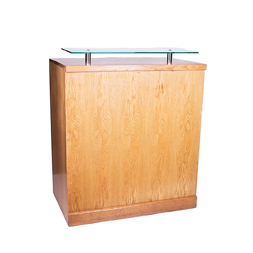 Registration Unit Natural with Glass Shelf