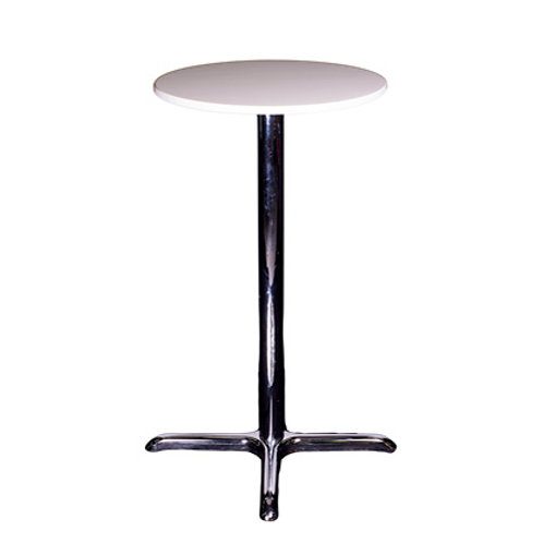 Pisa Poseur Tower Table White
