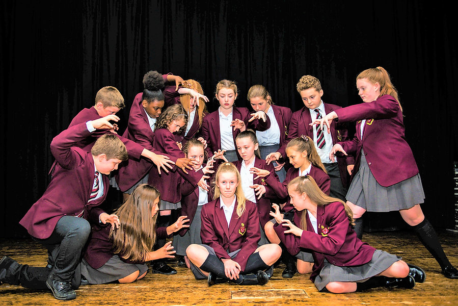 Picture of several pupils in drama class