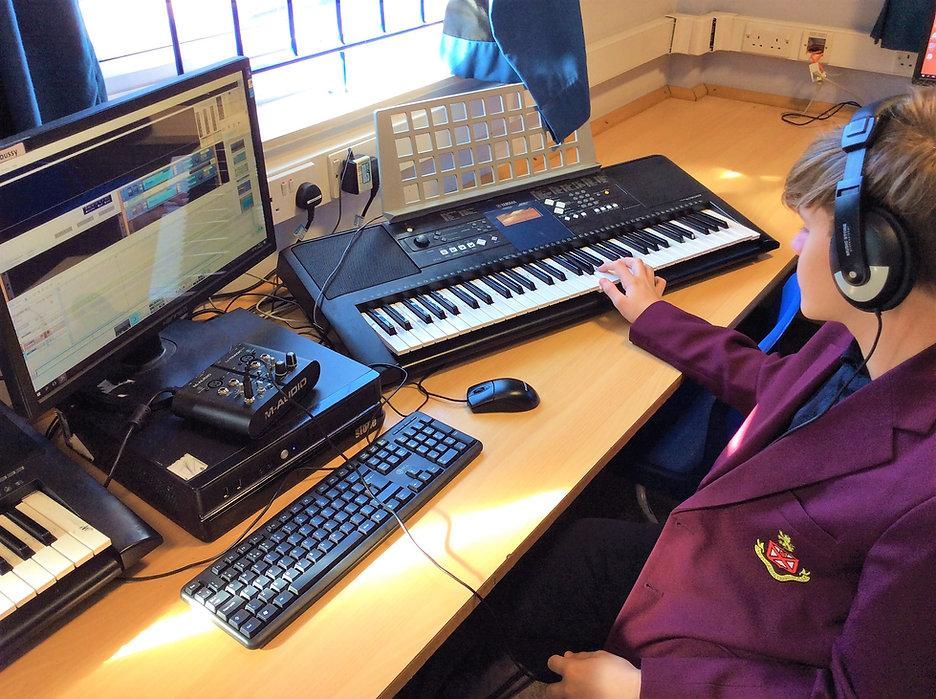 Pupil in extra Curricular Keyboard Club.JPG