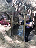 Pupils in a trench at Ypres.jpg