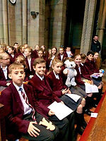 Year 7 in church at a Christmas Service.JPG