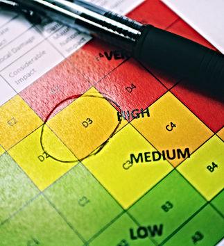 Risk matrix rating assessment concept ph