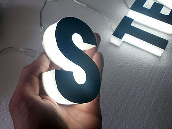 Side and front LED illuminated letters.j
