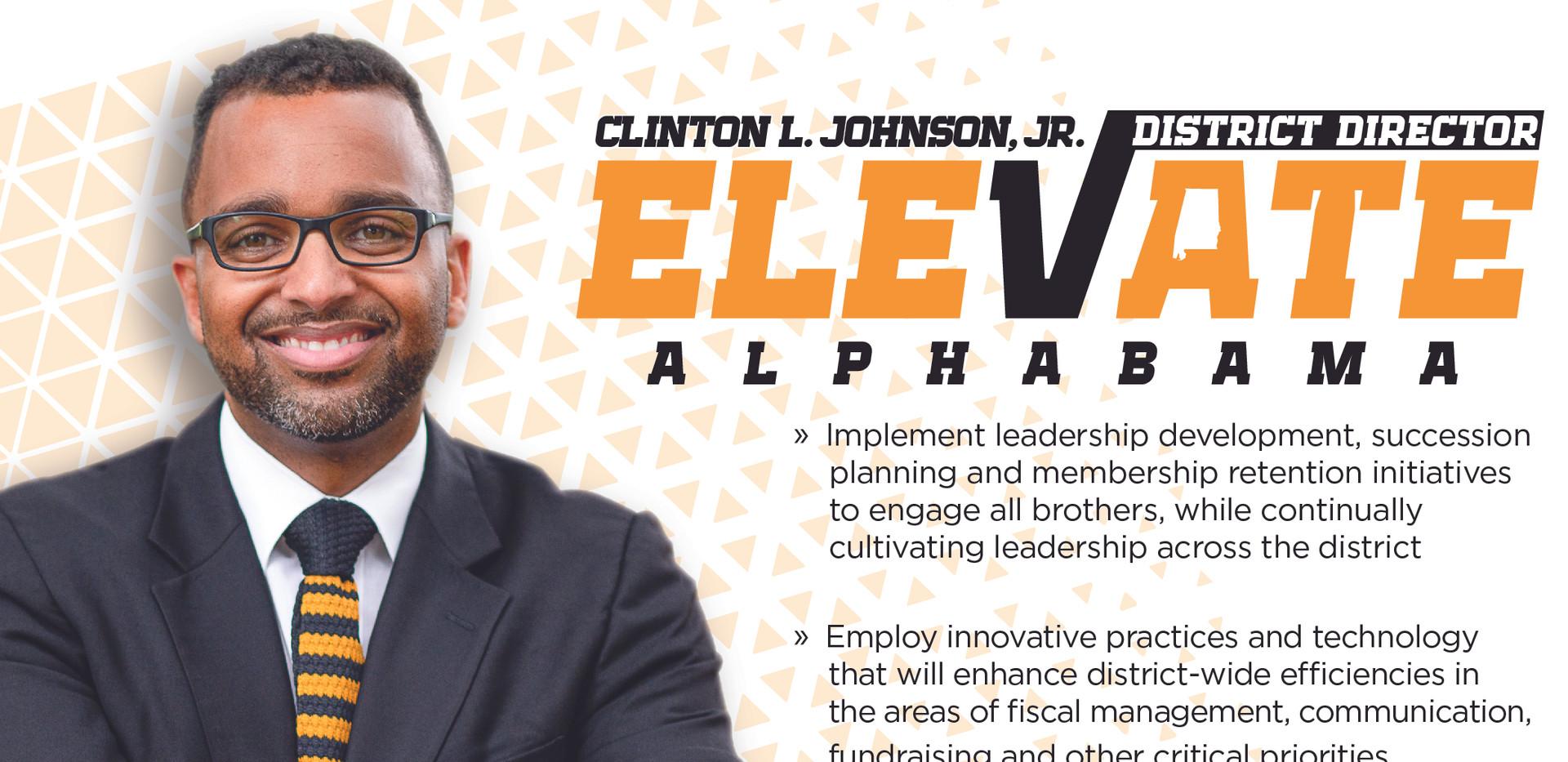 Clinto Johnson Front Postcard