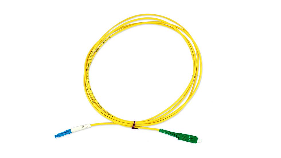 Cordão Óptico Simplex LC/UPC - SC/APC
