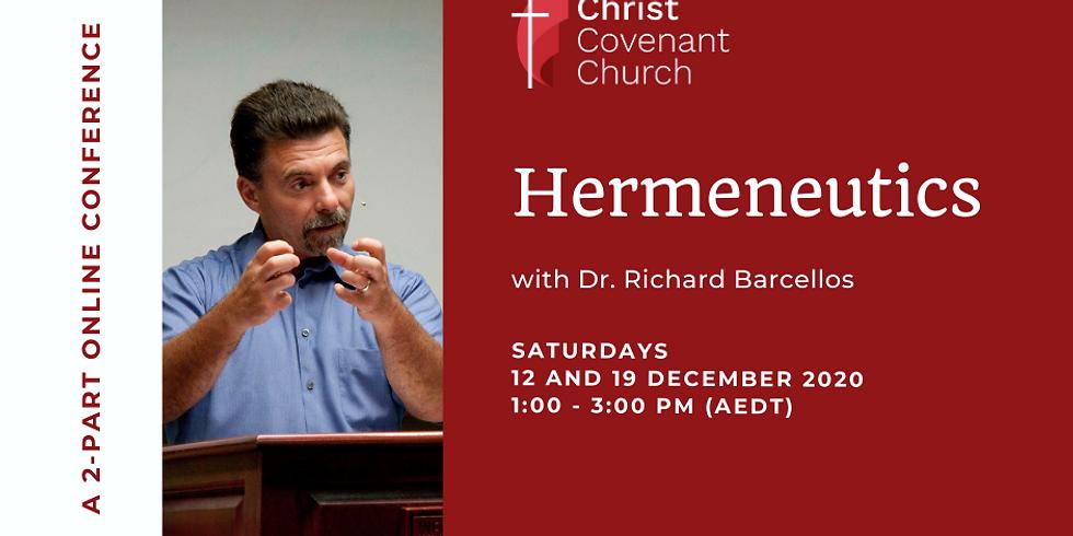 Hermeneutics with Dr. Richard Barcellos