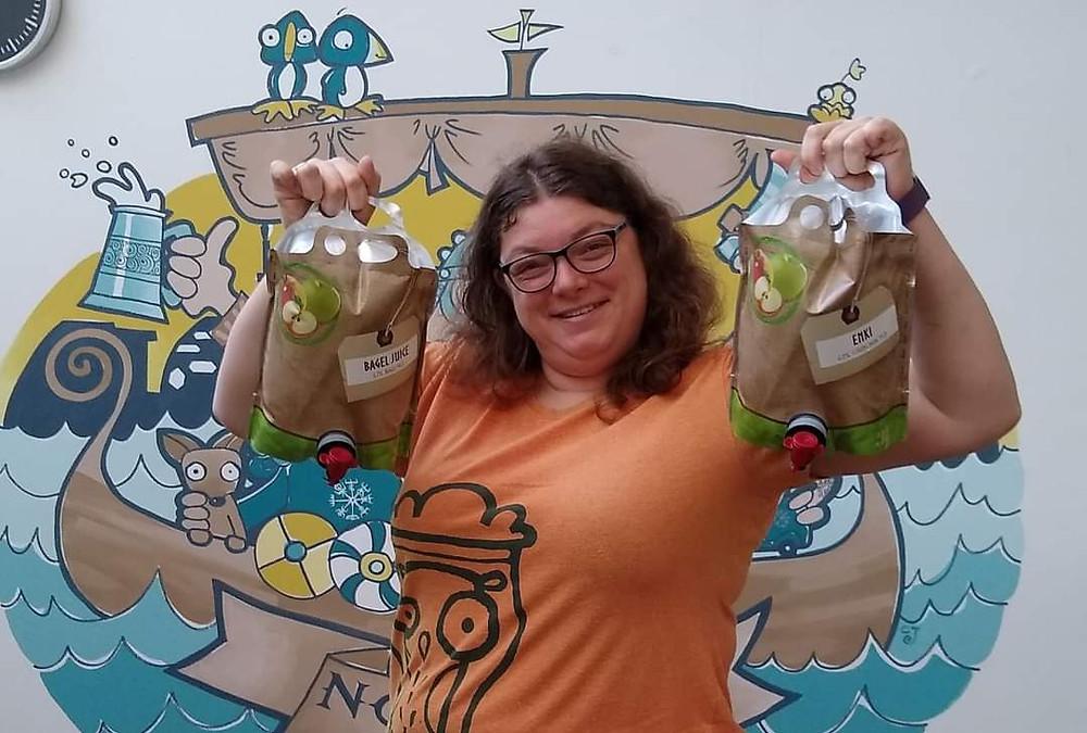 Nomadic Beers' owner 'Gaffa' Katie Marriott