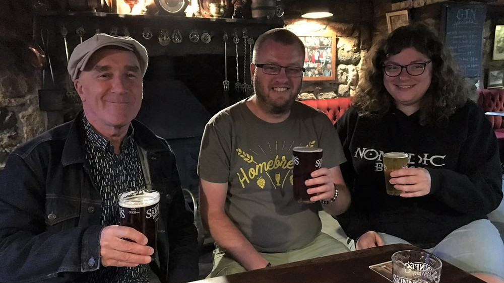 Simon Peresghetti (PUBLIC HOUSE), Mike Hampshire and Katie Marriott (Nomadic Beers)
