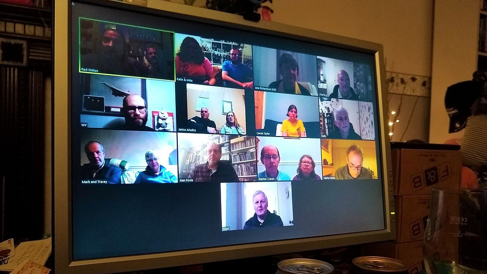 An online Zoom session about beer tasting, hosted by Leeds CAMRA